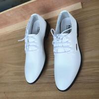 新款春秋正装皮鞋白色商务休闲男士英伦尖头皮鞋韩版婚纱摄影男鞋