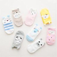 韩版卡通全棉儿童袜毛纱大脸宝宝袜子立体耳朵防滑地板袜