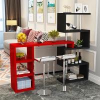 简易吧台桌家用小吧台简约现代创意吧台玄关隔断柜客厅酒柜吧台桌 组装