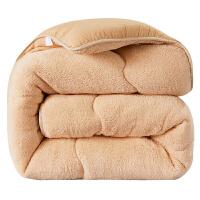 羊羔�q被子被芯冬被加厚保暖宿舍冬季棉被�稳穗p人春秋被.