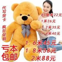 泰迪熊毛绒玩具熊大号1.6米公仔娃娃熊猫送女友抱抱熊生日礼物女