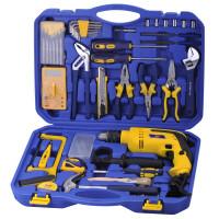 冲击钻电钻套装工具箱 家用68件套工具组合套装 家用组套电钻冲击钻五金工具箱