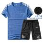 速干短袖t恤运动套装男夏季薄跑步健身服短袖五分短裤夏天运动衣服装935 套装