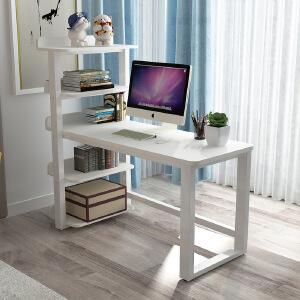 电脑桌 家用落地组装木质移动学习写字课桌现代简约书架写字台组合书桌子家具用品