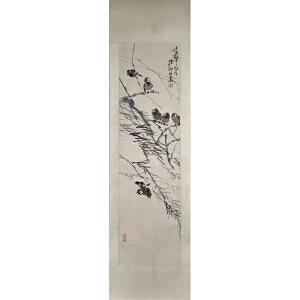 陆抑非(花鸟)杰出的中国花鸟画大家和卓越的美术教育家