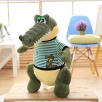 大号鳄鱼毛绒玩具公仔抱枕河马玩偶生日礼物可爱布娃娃送女生 军绿色