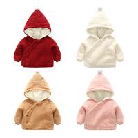 女宝宝衣服春秋装1岁3个月儿童连帽上衣新生儿冬季外套婴儿外出服
