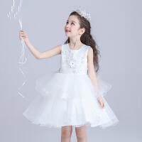女童公主儿童装连衣裙6纱裙子洋气1周岁2生日3礼服4白女宝宝5