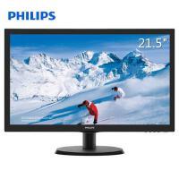 飞利浦(PHILIPS) 21.5英寸显示器 HDMI接口全高清液晶电脑显示屏 黑色 223S5LHSB