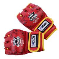 五龙拳击手套 半指拳套 散打手套打沙袋手套搏击格斗 均码