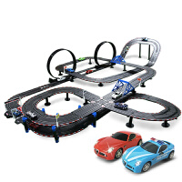 儿童玩具跑汽车赛道套装路轨道赛车双人电动手摇遥控赛车玩具