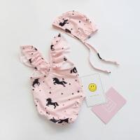 儿童泳衣女孩粉色连体独角兽可爱公主游泳衣婴儿宝宝度假泳装
