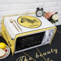 北欧简约布朗熊微波炉盖布罩格兰仕美的烤箱盖巾长方形 35X95cm
