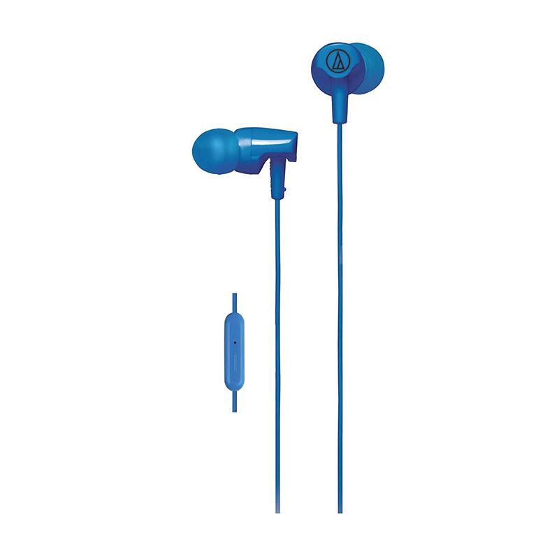 【儿童节特惠价,5.17~5.21日】铁三角(Audio-technica)ATH-CLR100is WH 入耳式线控通话耳机 智能手机专用耳麦 蓝色入耳式线控通话耳机