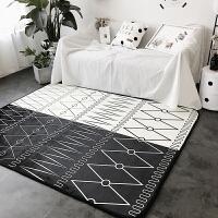 北欧简约现代地垫卧室客厅床边沙发旁地毯家用吸尘茶几垫四季可用 150*195cm(无胶地垫)
