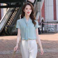 【产地好货,小二推荐】衬衫女设计感小众2020新款气质上衣韩版修身衬衣时尚洋气通勤女装