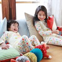 男宝女宝睡衣纯棉秋季2-3岁儿童家居服5-7-9周岁小童宝宝内衣冬季