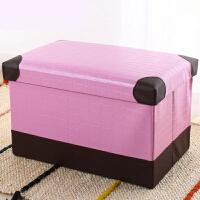 创意皮革加强折叠收纳凳子储物凳可坐换鞋凳沙发凳家用 47升(大号)48*31*31