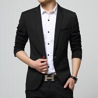韩观春秋季小西装男士外套青年韩版潮休闲西服修身型商务上衣外套单西