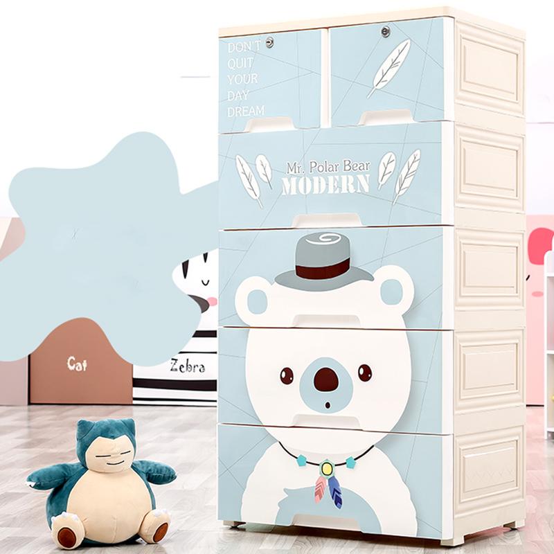 儿童收纳柜 儿童抽屉式收纳柜子2019年新款宝宝衣柜塑料多层衣服玩具收纳箱盒衣物整理储物柜 由于北京地区快递停发,北京的订单快递恢复后按顺序发出
