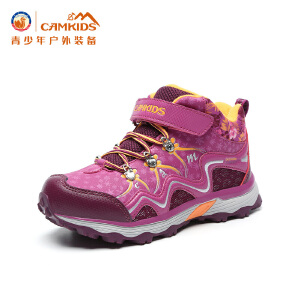 CAMKIDS童鞋高帮登山鞋中大童2017冬季新款女童运动鞋防滑