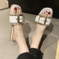 韩版女士时尚拖鞋休闲舒适平底鞋防滑软底女鞋