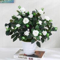 玫瑰仿真干花客厅家居摆设盆栽套装饰品摆件室内餐桌茶几塑料假花