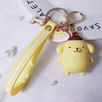 韩国创意滴胶企鹅大耳狗钥匙扣可爱卡通情侣包包DIY钥匙链圈挂件 E2-4 DIY滴胶-布丁狗 OPP袋包装