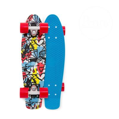 滑板四轮滑板车男女儿童小鱼板刷街单代步翘板公路滑板 天蓝色27寸 发货周期:一般在付款后2-90天左右发货,具体发货时间请以与客服协商的时间为准