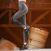 高腰显瘦健身裤女高弹力紧身运动跑步透气瑜伽裤夏季薄 灰色 四季款