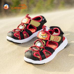 CAMKIDS儿童凉鞋男孩沙滩鞋包头中小童漫威运动鞋2018夏季款