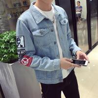 男士新款韩版牛仔夹克休闲褂潮流修身外套男装上衣服