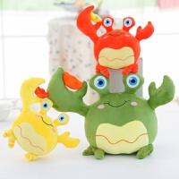 大闸蟹玩偶儿童毛绒玩具生日礼物女可爱创意螃蟹公仔抱枕靠垫