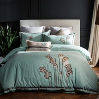家纺欧式绣花加厚纯棉磨毛四件套冬季保暖拉绒全棉1.8米床上用品