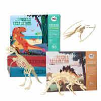 美乐 儿童科学玩具* 霸王龙考古挖掘DIY拼装手工恐龙模型