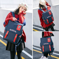 奥尔达背包女双肩2019新款韩版初中高中学生书包大容量休闲电脑包