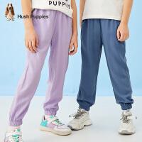 【2件5折价:130元】暇步士童装男女同款时尚长裤2021夏季新款中大童简约休闲裤薄