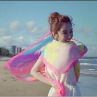 新款我的体育老师王小米王晓晨同款海滩度假丝巾防晒丝巾围巾披肩 彩色