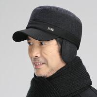 中老年帽子男冬天老人老年人毛呢帽男士保暖护耳爸爸爷爷鸭舌帽秋