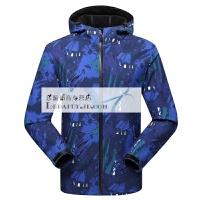 迷彩冲锋衣男女春秋薄款软壳衣防风防水透气单层运动风衣外套西藏