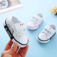 小白鞋女童1-3岁2婴幼儿软底防滑春季鞋学步单鞋透气男宝宝鞋子