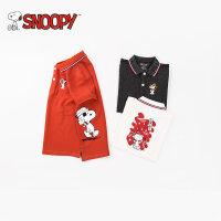 snoopy/史努比2018夏新款男女童装英伦短袖POLO衫纯棉LSN8M483