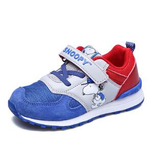 史努比童鞋秋季新品儿童运动鞋时尚休闲鞋男女童鞋