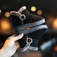 儿童雪地靴中筒靴子加绒宝宝棉靴防水短靴