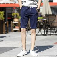 纯棉短裤男夏天男士休闲裤运动裤宽松中裤五分裤韩版潮流沙滩裤子