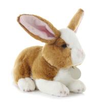 小兔子 毛绒玩具小兔公仔 仿真兔子布娃娃 小白兔公仔 可爱兔兔玩偶儿童女孩生日礼物 长25cm高20cm