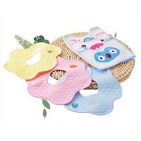 旋转婴儿口水巾6条装宝宝围嘴新生儿系带防吐奶围兜