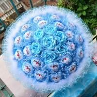 毕业创意哆啦a梦娃娃玩偶玫瑰花卡通花束情人节生日实用礼品