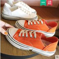 帆布鞋女新款韩版网红鞋子女学生百搭潮鞋小白鞋韩版透气单鞋