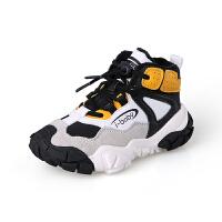 儿童运动鞋秋冬新款加绒女童二棉鞋韩版男童老爹鞋